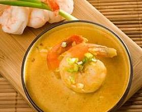 Креветочный крем-суп с карри