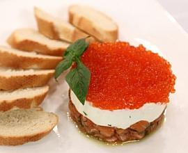 Тар-тар из лосося с сыром «Филадельфия»