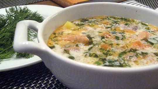 финский суп с семгой рецепты