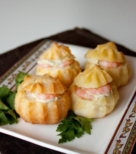 Профитроли закусочные с начинкой рецепт с пошагово