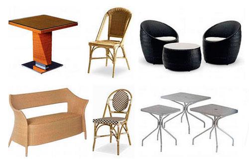 Варианты мебели для уличных кафе и летних площадок ресторанов