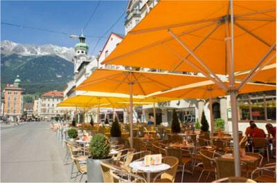 Зонты для уличных кафе