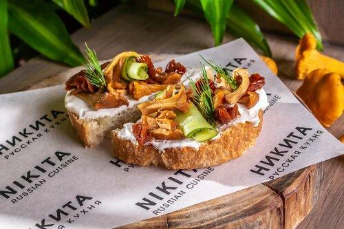 бутерброд с лисичками