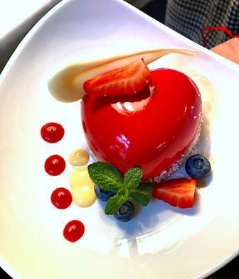 десерт в форме сердца